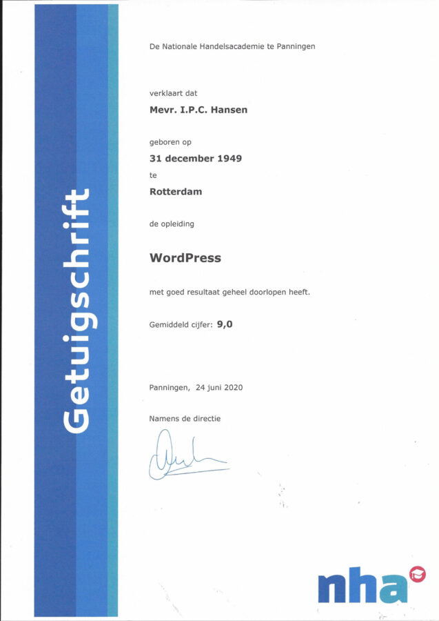 2020 - WordPress